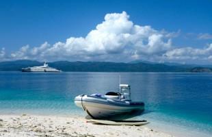 Philippins Beach-Ocean boats