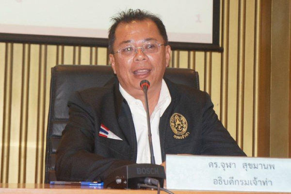 Marine Department Director-General Chula Sukmanop outlined the four-pronged approach to making Thailand the maritime hub in Southeast Asia. Photo: Chutharat Plerin