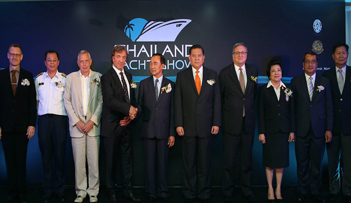 Andy Treadwell and the official Thailand Yacht Show launch party delegation.