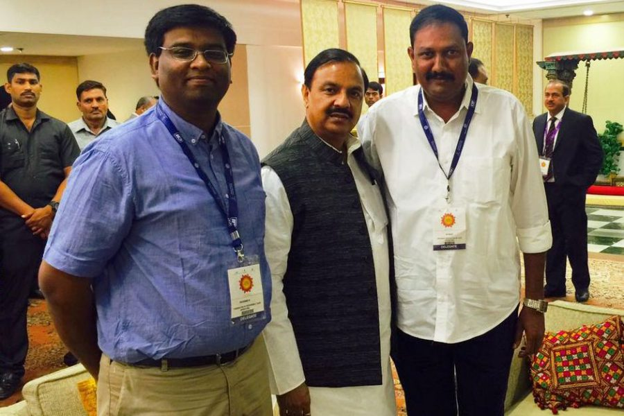 L to R Asia Pacific Superyachts Andamans,Mr. R. Rathnam_ Minister of Tourism, Art & Culture of the Government of India and Dr. Mahesh SharmaIndia_ State Convener of Tourism, Andaman and Nicobar Islands, Andaman & Nicobar Islands, Mr. M. Vinod