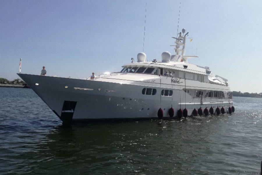 MY Vava arriving Port Galle, Sri Lanka