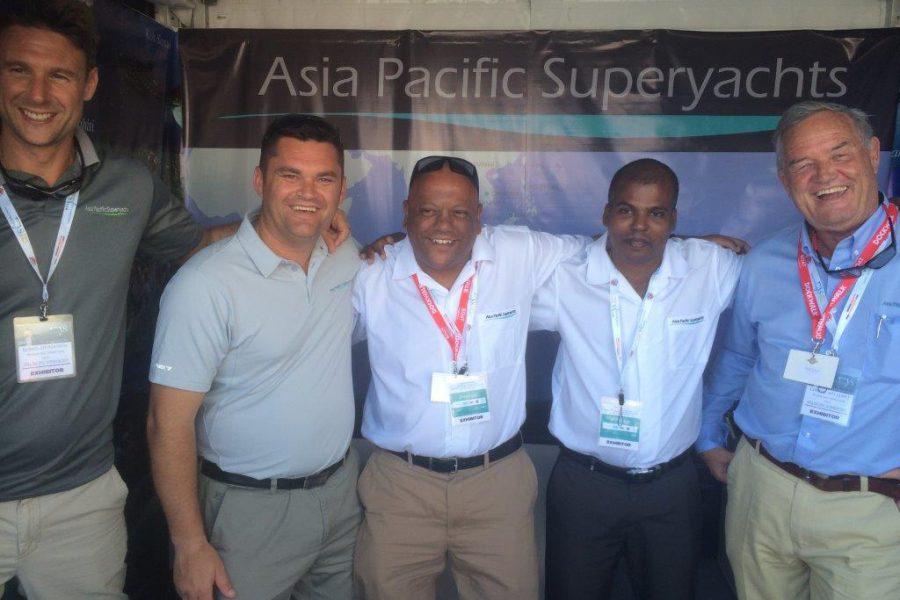 left to right: Richard Lofthouse, Duthie Lidgard, Gordon Fernandes, Mohamed Hameed & Captain Charlie Dwyer