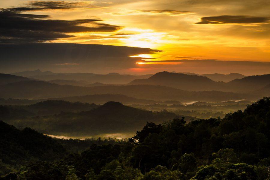 Sunrise at Millabedda, Sri Lanka