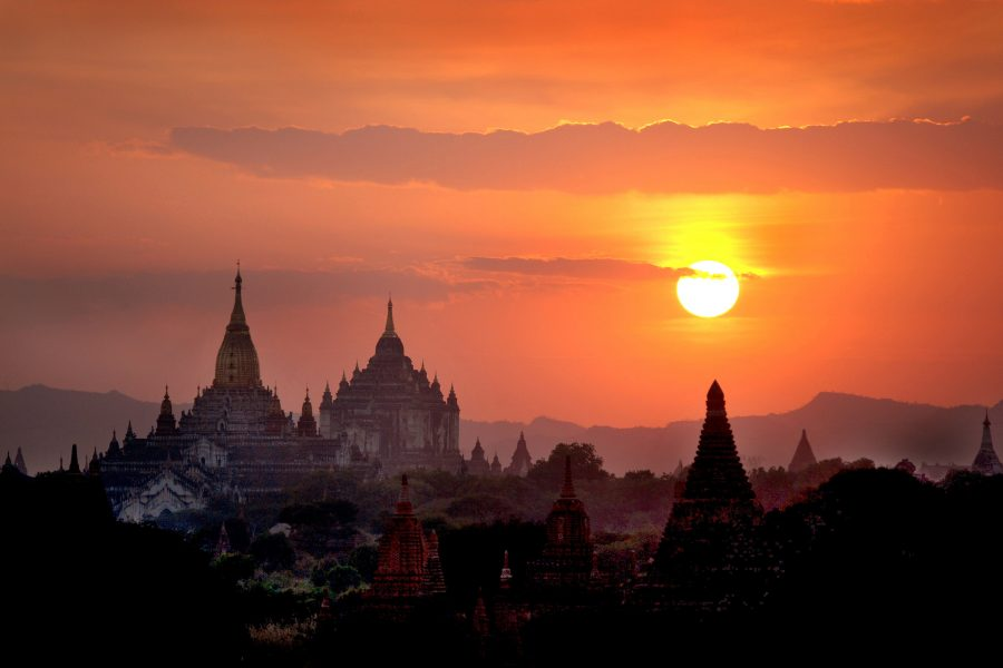 Ko Wai Kyi Moe Bagan sunset view in Myanmar